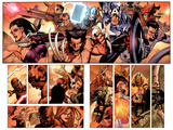 Secret Invasion No.7 Group: Wolverine, Captain America, Mr. Fantastic and Hawkeye Art by Leinil Francis Yu