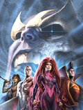 The Thanos Imperative: Devestation No.1 Cover: Medusa, Gladiator, Silver Surfer, and Gamora Plastic Sign by Alex Garner