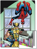 Marvel Holiday Special 2007 No.1 Cover: Spider-Man and Wolverine Prints by Ron Lim