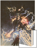 S.H.I.E.L.D. No.5 Cover: Nikola Tesla Standing with Energy Wood Print by Gerald Parel