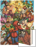 Spider-Man & The Secret Wars No.2 Cover: Spider-Man Wood Print by Patrick Scherberger