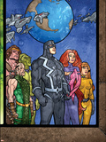 Secret Invasion: Inhumans No.4 Group: Black Bolt, Medusa, Karnak, Gorgon, Crystal and Triton Plastic Sign by Tom Raney