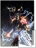 S.H.I.E.L.D. No.5 Cover: Nikola Tesla Standing with Energy Prints by Gerald Parel