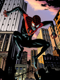 Ultimate Comics Spider-Man No.7: Spider-Man Jumping Plastic Sign by Chris Samnee