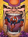 Marvel Adventures Spider-Man No.23 Cover: Spider-Man and M.O.D.O.K Plastic Sign by Ale Garza