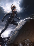 Spider-Girl No.3 Cover: Spider-Girl Standing by a Tombstone Wall Decal by Stefano Caselli