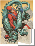 Marvel: Monsters On The Prowl No.1 Group: Giant Man and Grogg Wood Print by Duncan Fegredo