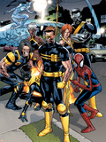 Ultimate Spider-Man No.120 Group: Spider-Man, Cyclops and Wolverine Plastic Sign by Stuart Immonen