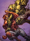 Ultimate Spider-Man No.117 Cover: Green Goblin and Hobgoblin Fighting Wall Decal by Stuart Immonen