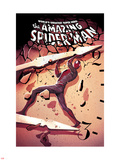 The Amazing Spider-Man No.679 Cover: Spider-Man Lifting Plastic Sign by Mike Del Mundo