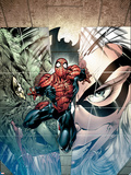 Sensational Spider-Man No.24 Cover: Spider-Man, Lizard and Black Cat Wall Decal by Angel Medina