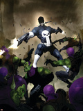 Punisher War Journal No.25 Cover: Punisher Plastic Sign by Alex Maleev