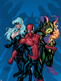 Marvel Knights Spider-Man No.11 Cover: Green Goblin, Spider-Man and Black Cat Plastic Sign by Terry Dodson