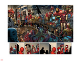 Ultimate Spider-Man No.153: Panels with Spider-Man and Iron Man Plastic Sign by Sara Pichelli