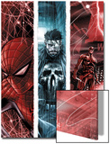 The Punisher No.10 Cover: Spider-Man, Punsiher, and Daredevil Poster by Marco Checchetto