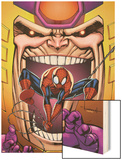 Marvel Adventures Spider-Man No.23 Cover: Spider-Man and M.O.D.O.K Wood Print by Ale Garza