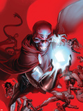 What If House Of M No.1 Cover: Red Skull Plastic Sign by Jim Cheung