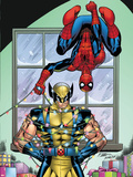Marvel Holiday Special 2007 No.1 Cover: Spider-Man and Wolverine Plastic Sign by Ron Lim