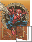 Marvel Adventures Spider-Man No.36 Cover: Spider-Man Wood Print by David Nakayama