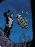 Punisher War Zone No.2 Cover: Punisher Plastic Sign by Steve Dillon