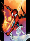 Ultimate Spider-Man No.118 Cover: Spider-Man, Iceman and Firestar Wall Decal by Stuart Immonen