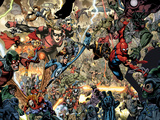 Secret Invasion No.7 Group: Spider-Man, Ronin, Mr. Fantastic and Stature Prints by Leinil Francis Yu