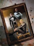 Punisher War Journal No.19 Cover: Punisher and Black Widow Plastic Sign