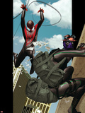 Ultimate Comics Spider-Man No.9 Cover: Spider-Man and Prowler Plastic Sign by Kaare Andrews