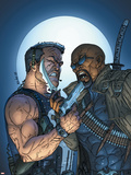 jeff Johnson - Marvel Team-Up No.8 Cover: Punisher and Blade Plastové cedule