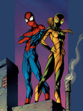Ultimate Spider-Man No.91 Cover: Shadowcat and Spider-Man Plastic Sign by Mark Bagley