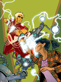 Warlock No.4 Cover: Adam Warlock, Chin and Janie Plastic Sign by Charlie Adlard