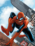 The Amazing Spider-Man No.546 Cover: Spider-Man Plastic Sign by Steve MCNiven