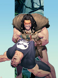 Punisher War Journal No.14 Cover: Punisher and Kraven The Hunter Plastic Sign by Ariel Olivetti