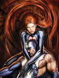 Secret Invasion: Inhumans No.4 Cover: Black Bolt and Medusa Plastic Sign by Stjepan Sejic