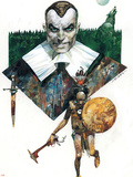 Marvel 1602: New World No.4 Cover: Osborn and Norman Plastic Sign by Sergio Toppi