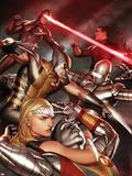 X-Men vs. Agents of Atlas No.2 Cover: Namora, Wolverine and Cyclops Plastic Sign by Adi Granov