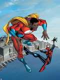 Spider-Girl No.95 Cover: Spider-Girl and War Machine Wall Decal by Ron Frenz
