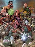 The Thanos Imperative: Devestation No.1: Medusa, Gorgon and Karnak Plastic Sign by Miguel Angel Sepulveda