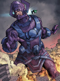 Chaos War No.3: Galactus Fighting Plastic Sign by Khoi Pham