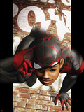 Ultimate Comics Spider-Man No.6 Cover: Spider-Man Transforming Plastic Sign by Kaare Andrews