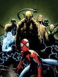 Ultimate Spider-Man No.155 Cover: Spider-Man, Green Goblin, Sandman, Electro, and Vulture Plastic Sign by Olivier Coipel