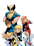 X-Men & Power Pack No.1 Cover: Wolverine Plastic Sign by  Gurihiru