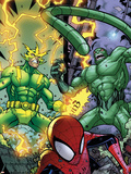 Marvel Adventures Spider-Man No.48 Group: Spider-Man, Electro and Scorpion Wall Decal by Jonboy Meyers