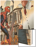 Marvel Adventures Spider-Man No.24: Spider-Man and Kingpin Wood Print by Rob Disalvo