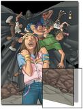 Runaways No.9 Group: Hayes, Molly, Cloak and Runaways Prints by Adrian Alphona