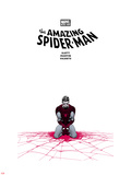 The Amazing Spider-Man No.655 Cover: Spider-Man Kneeling Plastskyltar av Marcos Martin