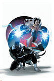 A+X 3 Cover: Black Panther, Storm Wall Decal by Pasqual Ferry