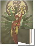 Spider-Woman Origins Cover: Spider Woman and Hydra Wood Print by Jonathan Luna