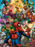 Spider-Man & The Secret Wars No.2 Cover: Spider-Man Plastic Sign by Patrick Scherberger
