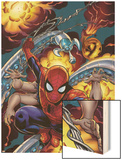 Amazing Spider-Man No.526 Cover: Spider-Man Wood Print by Mike Wieringo